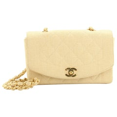 Chanel Vintage Diana Flap Bag Quilted Canvas Small