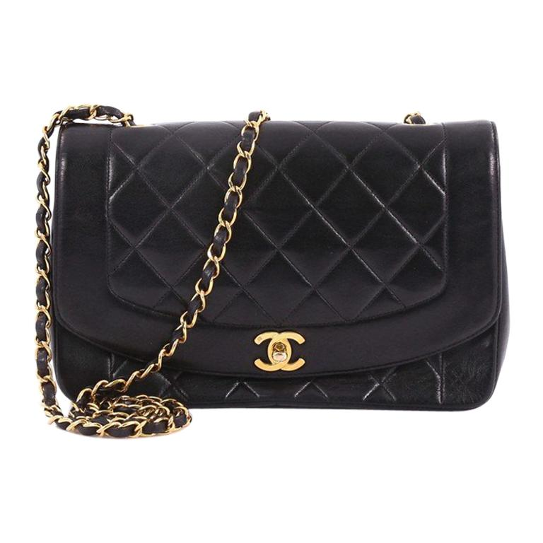3e1c06867828 ... Diamond CC Camera Bag Quilted Leather Small ... 1stdibs. $1855. Chanel  Vintage Diana Flap Bag Quilted Lambskin Medium