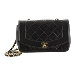 Chanel Vintage Diana Flap Bag Quilted Lambskin Small