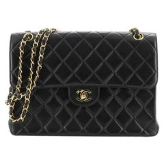 Chanel Vintage Double Sided Flap Bag Quilted Lambskin Jumbo