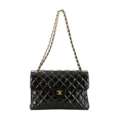 Chanel Vintage Double Sided Flap Bag Quilted Patent Jumbo