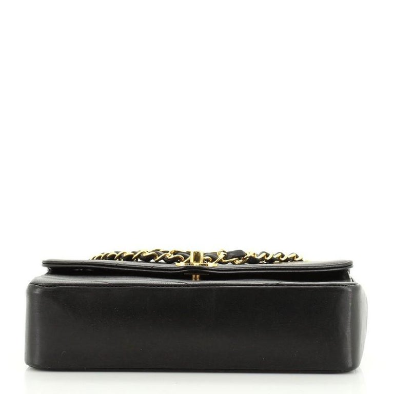 Chanel Vintage Envelope Flap Bag Chevron Lambskin Medium  For Sale 1
