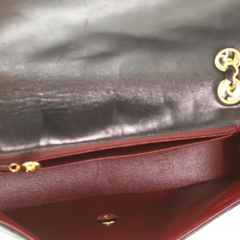 Chanel Vintage Envelope Flap Bag Chevron Lambskin Medium  For Sale 2