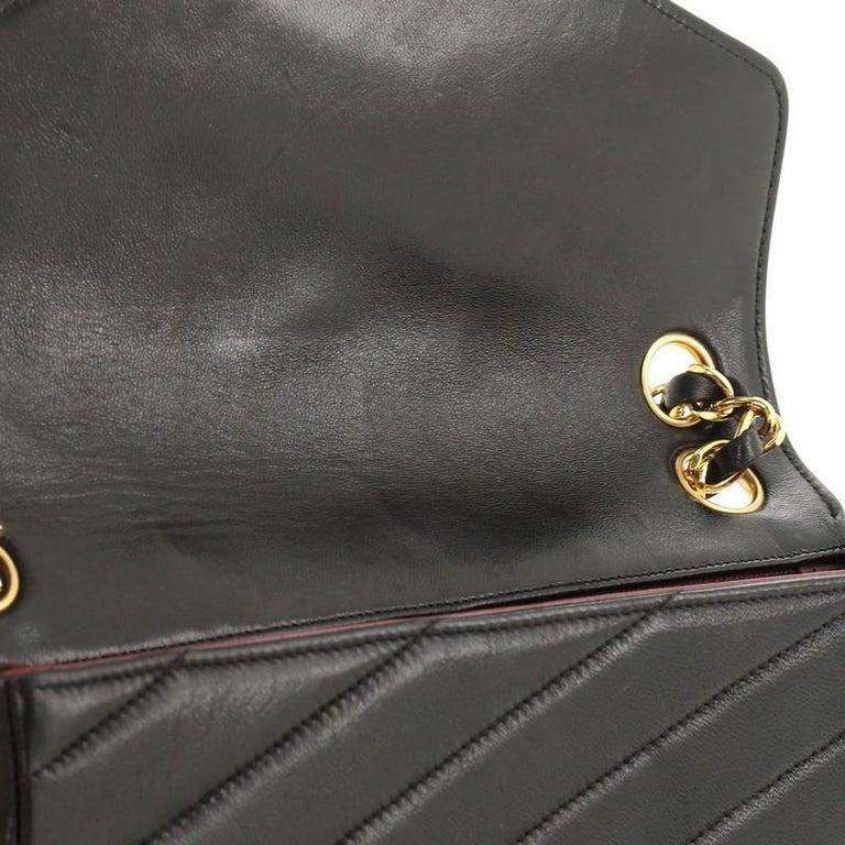 Chanel Vintage Envelope Flap Bag Chevron Lambskin Medium  For Sale 3
