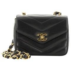 Chanel Vintage Envelope Flap Bag Chevron Lambskin Mini