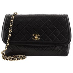 Chanel Vintage Flap Bag Quilted Lambskin Medium