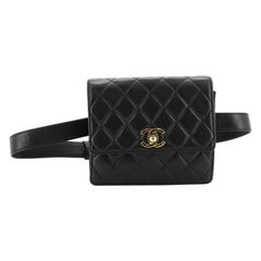 Chanel Vintage Flap Belt Bag Quilted Leather Small