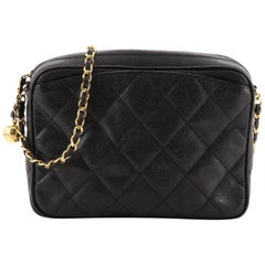 Chanel Vintage Front Pocket Camera Bag Quilted Caviar Small