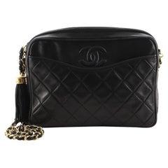 Chanel Vintage Front Pocket Camera Bag Quilted Lambskin Medium