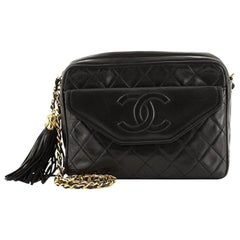 Chanel Vintage Front Pocket Camera Bag Quilted Lambskin Medium