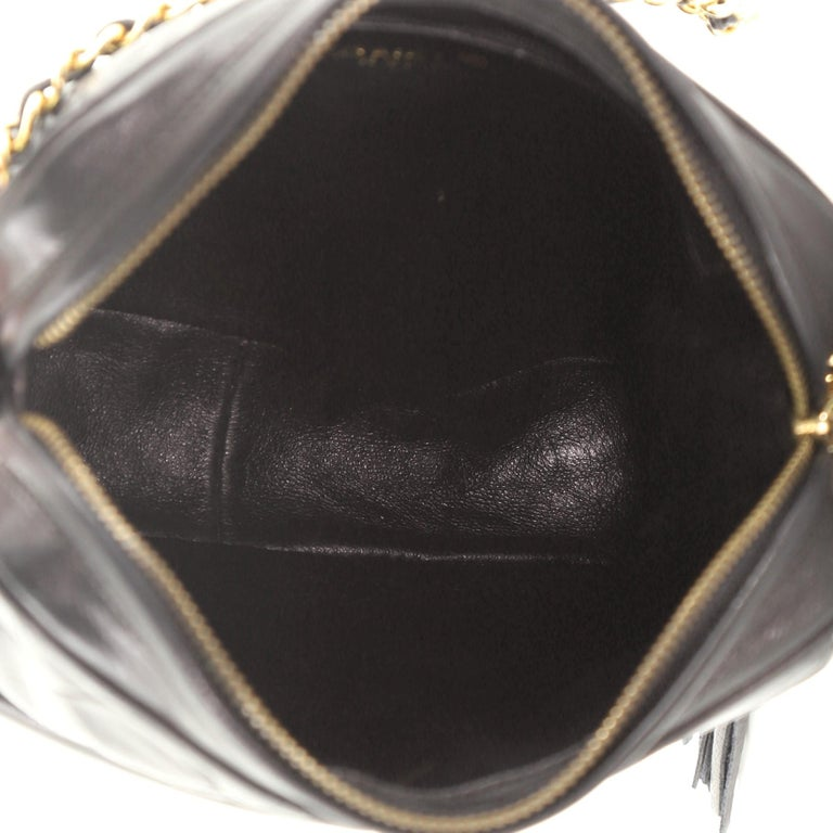 Chanel Vintage Front Pocket Camera Bag Quilted Lambskin Small For Sale 3