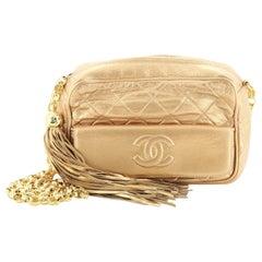 Chanel Vintage Front Pocket Camera Bag Quilted Leather Mini