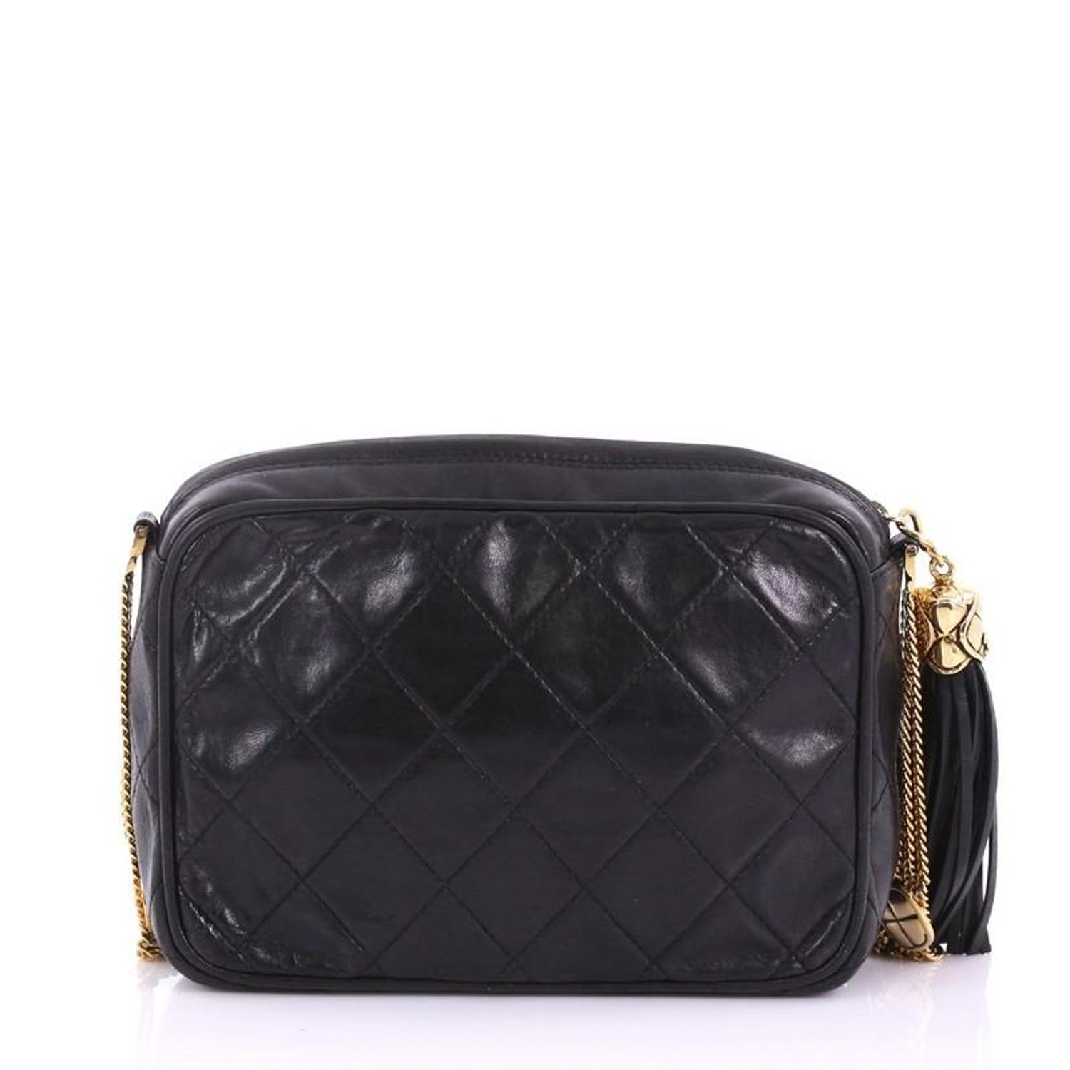 50f456cf81a4 Chanel Vintage Front Pocket Camera Bag Quilted Leather Small For Sale at  1stdibs