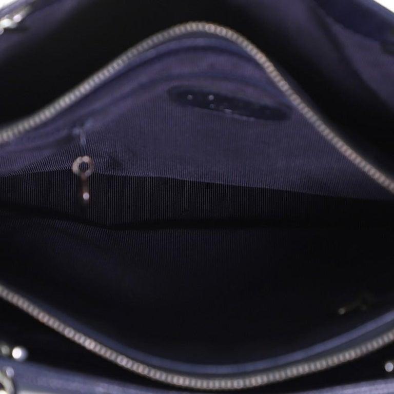 Chanel Vintage Front Pocket Shoulder Bag Quilted Caviar Medium For Sale 2