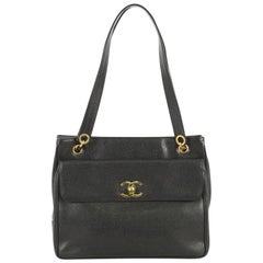 Chanel Vintage Front Pocket Tote Caviar Medium