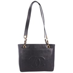 Chanel Vintage Front Pocket Tote Caviar Small