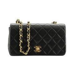 Chanel Vintage Full Flap Bag Quilted Lambskin Mini