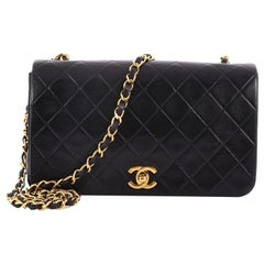 Chanel Vintage Full Flap Bag Quilted Lambskin Small