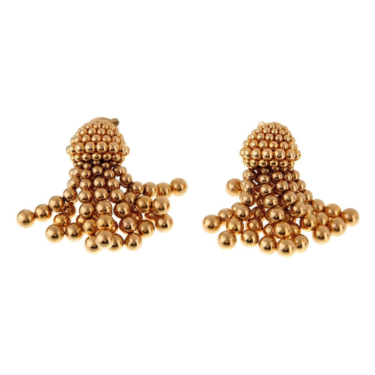 Chanel Vintage Gold Tassle Drop Earrings