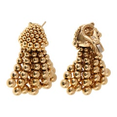 Chanel Vintage Gold Tassle Drop Earrings