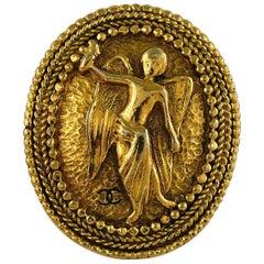 Chanel Vintage Gold Toned Angel Brooch