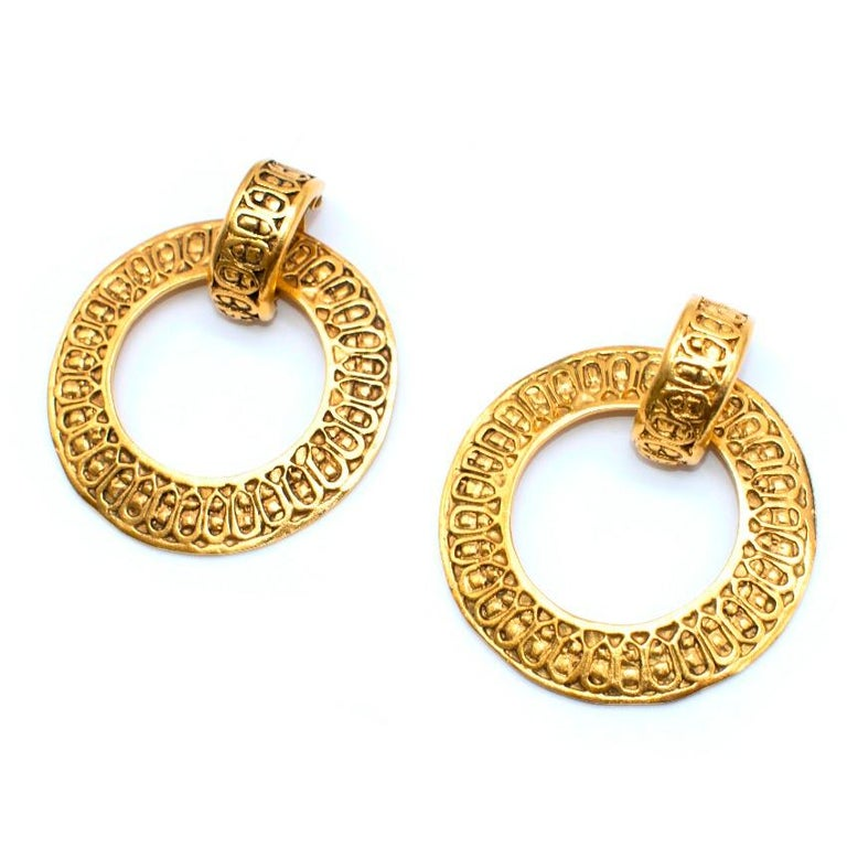 Chanel Vintage Gold Vermeil Multi Earring Set In Good Condition For Sale In London, GB