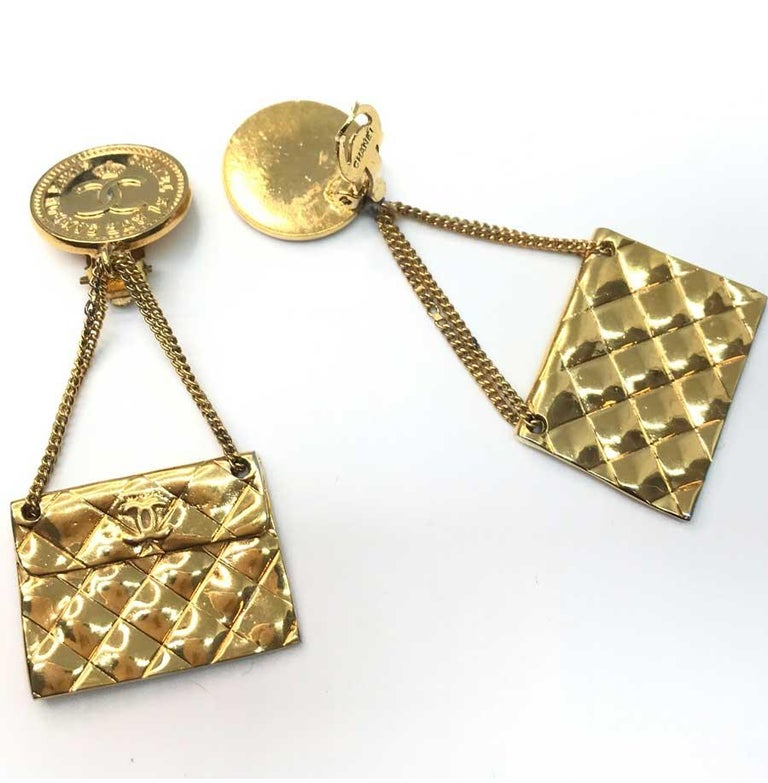 CHANEL Vintage Golden Bags Clips In Good Condition In Paris, FR