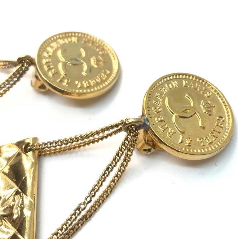 Women's CHANEL Vintage Golden Bags Clips