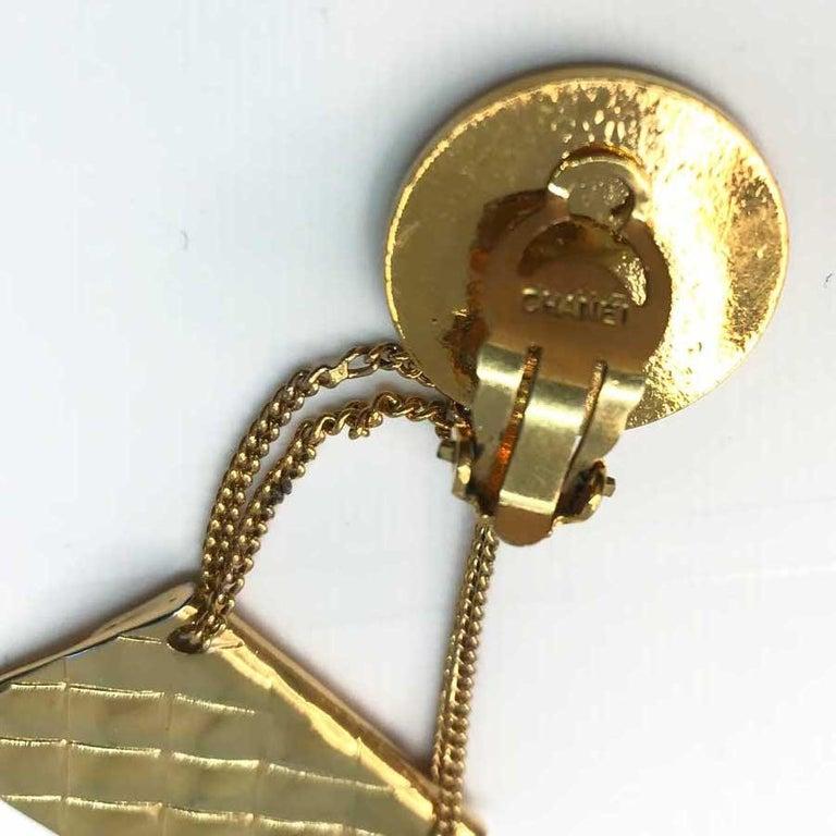 CHANEL Vintage Golden Bags Clips 1