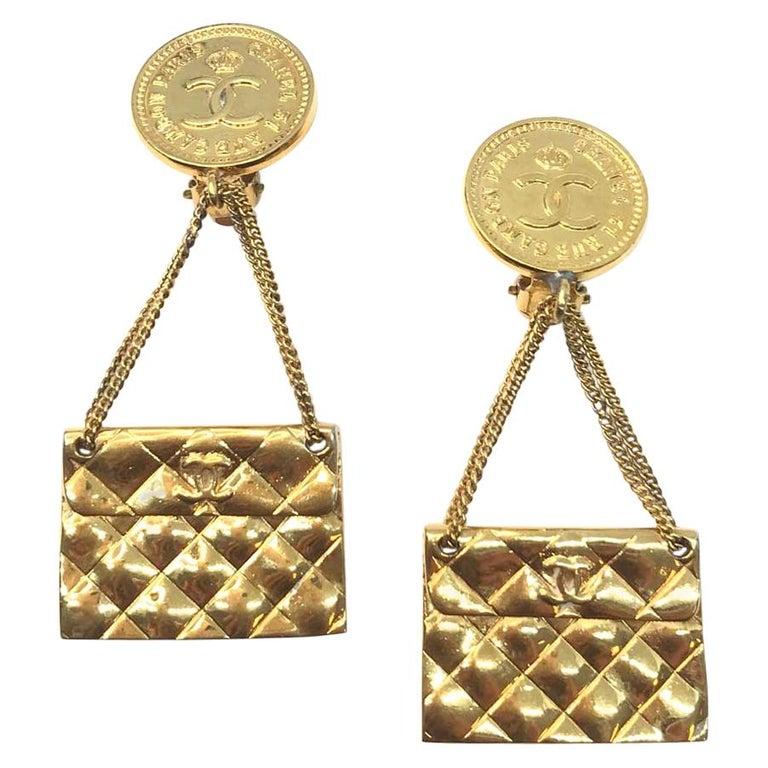 CHANEL Vintage Golden Bags Clips