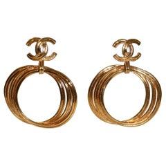 Chanel Vintage Hoop Earrings