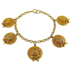 Chanel Vintage Iconic Sun Hat Charm Necklace