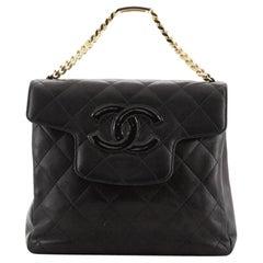 Chanel Vintage ID Bracelet Flap Bag Quilted Lambskin Medium