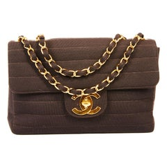 CHANEL Vintage Jumbo Bag in Brown Jersey