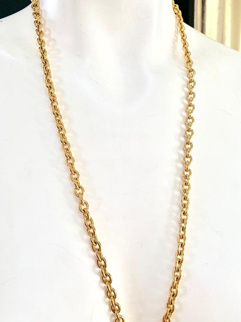 Beige Chanel Vintage Lion Necklace  For Sale