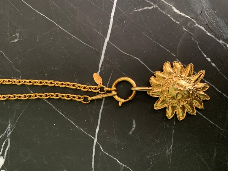 Chanel Vintage Lion Necklace  In Good Condition For Sale In Los Angeles, CA