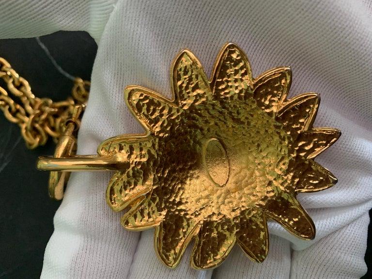 Women's or Men's Chanel Vintage Lion Necklace  For Sale