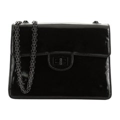 Chanel Vintage Mademoiselle Flap Bag Patent Small