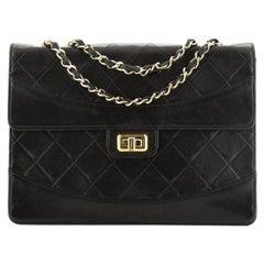 Chanel Vintage Mademoiselle Flap Bag Quilted Lambskin Medium