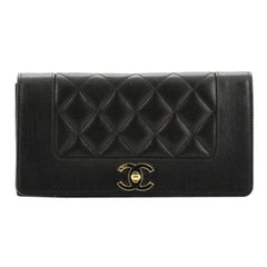 Chanel Vintage Mademoiselle Wallet Quilted Sheepskin Long