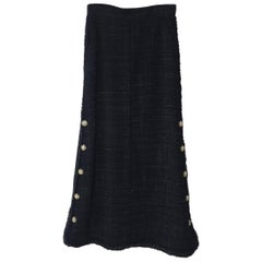 Chanel Vintage Maxi Tweed Skirt 2008 Runway Sz.38