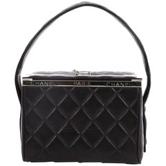Chanel Vintage Metal Box Bag Quilted Lambskin Mini
