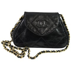 Chanel Vintage Mini Crossbody Lizard Bag