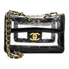Chanel Vintage Naked Flap Bag Quilted PVC Maxi