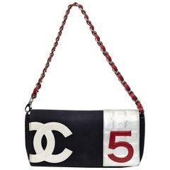 Chanel Vintage Number 5 Denim Single Flap Bag