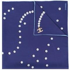 Chanel pearl print scarf