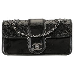 Chanel Vintage Quilted Double Chain Shoulder Bag