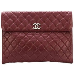 Chanel Vintage quilted envelope clutch