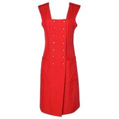 Chanel vintage red silk summer dress