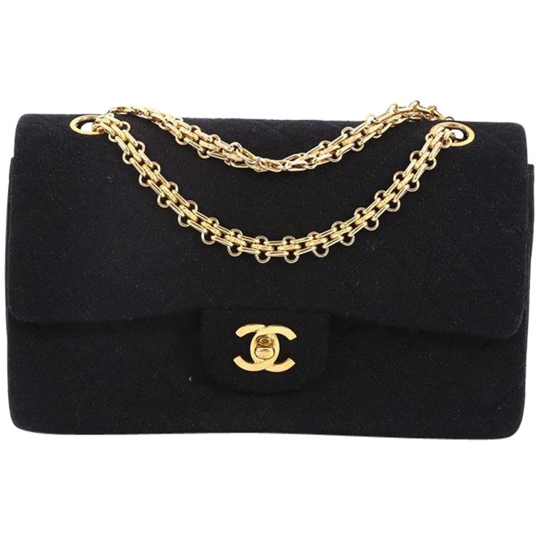 649401427c8e Chanel Vintage Reissue Chain Double Flap Bag Quilted Jersey Small For Sale